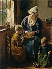 Bernard Jean Corneille Pothast Mothers Little Helpers painting