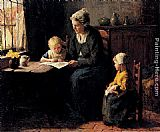 Bernard Jean Corneille Pothast The Afternoon Lesson painting
