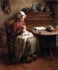 Bernard Jean Corneille Pothast The Young Seamstress painting
