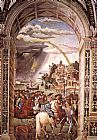 Bernardino Pinturicchio Aeneas Piccolomini Leaves for the Council of Basle painting