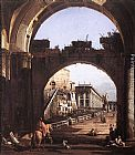 Bernardo Bellotto Capriccio of the Capitol painting