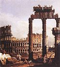 Bernardo Bellotto Capriccio with the Colosseum painting