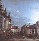 Bernardo Bellotto Dresden, the Frauenkirche and the Rampische Gasse painting