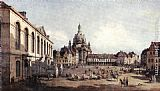 Bernardo Bellotto New Market Square in Dresden from the Jüdenhof painting
