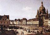 Bernardo Bellotto New Market Square in Dresden painting