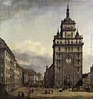 Bernardo Bellotto The Kreuzkirche in Dresden painting