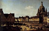 Bernardo Bellotto View Of The New Market In Dresden painting