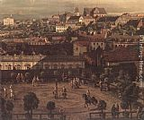 Bernardo Bellotto View of Warsaw from the Royal Palace (detail) painting
