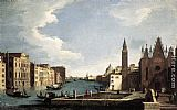 Bernardo Canal The Grand Canal with the Church of La Carità painting