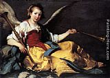 Bernardo Strozzi A Personification of Fame painting