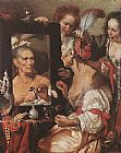Bernardo Strozzi Old Woman at the Mirror painting