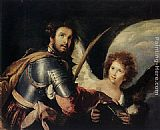 Bernardo Strozzi St Maurice and the Angel painting