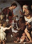 Bernardo Strozzi The Charity of St Lawrence painting