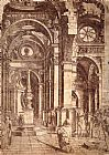 Bramante Interior of a Church painting