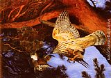 Bruno Liljefors Hawk Attacking Prey painting