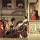 Caesar van Everdingen Count Willem II of Holland Granting Privileges painting