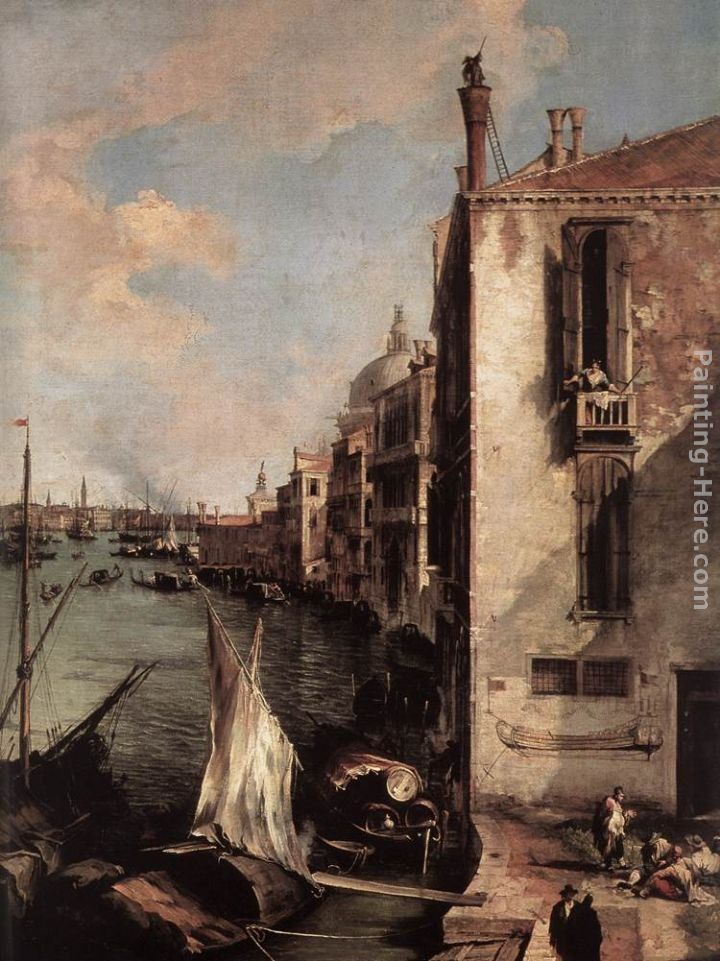 Canaletto Grand Canal, Looking East from the Campo San Vio (detail)