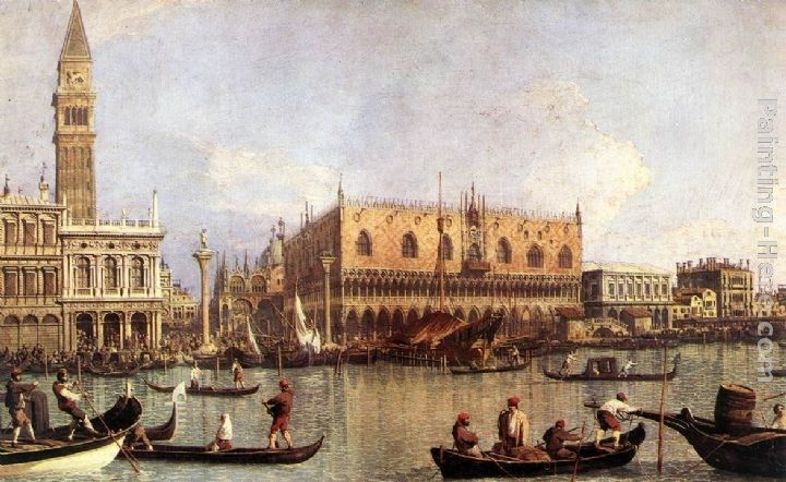 Canaletto Palazzo Ducale and the Piazza di San Marco