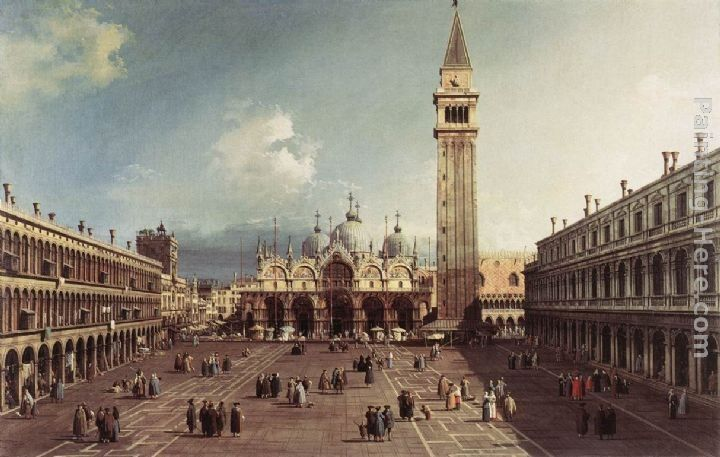 Canaletto Piazza San Marco with the Basilica