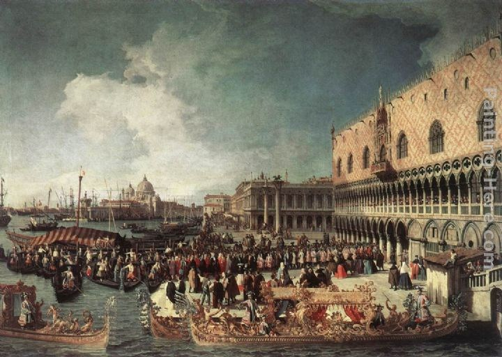 Canaletto Reception of the Ambassador in the Doge's Palace