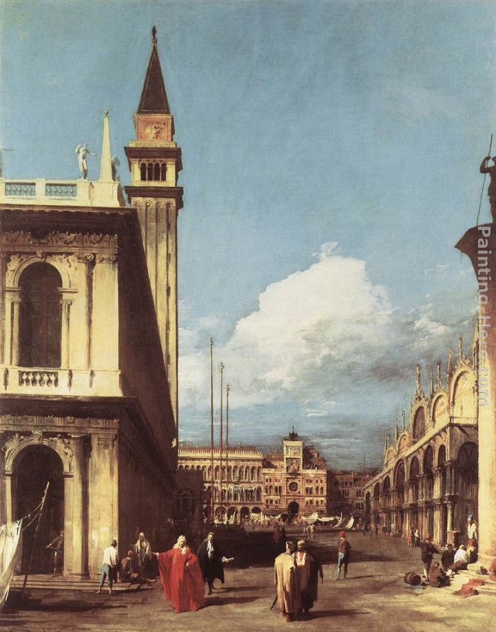 Canaletto The Piazzetta, Looking toward the Clock Tower