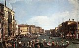Canaletto A Regatta on the Grand Canal painting