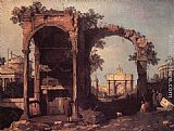Canaletto Capriccio Ruins and Classic Buildings painting