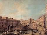Canaletto Grand Canal The Rialto Bridge from the South painting