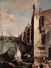 Canaletto Grand Canal, Looking East from the Campo San Vio (detail) painting