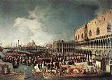 Canaletto Reception of the Ambassador in the Doge's Palace painting