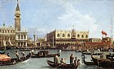 Canaletto Return of the Bucentoro to the Molo on Ascension Day painting