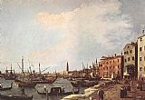Canaletto Riva degli Schiavoni - west side painting