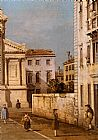 Canaletto S. Francesco Della Vigna Church And Campo painting
