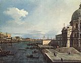 Canaletto The Grand Canal at the Salute Church painting