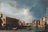 Canaletto The Grand Canal from Rialto toward the North painting
