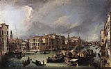 Canaletto The Grand Canal with the Rialto Bridge in the Background painting