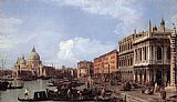 Canaletto The Molo Looking West painting