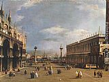Canaletto The Piazzetta painting