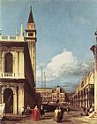 Canaletto The Piazzetta, Looking toward the Clock Tower painting