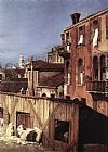 Canaletto The Stonemason's Yard (detail) painting