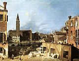 Canaletto The Stonemason's Yard painting
