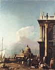 Canaletto Venice The Piazzetta Looking South-west towards S. Maria della Salute painting