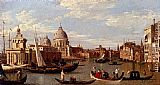 Canaletto View Of The Grand Canal And Santa Maria Della Salute With Boats And Figures In The Foreground, Venice painting