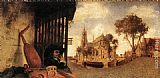 Carel Fabritius View of the City of Delft painting