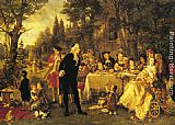 Carl Herpfer A Festive Gathering painting