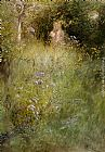 Carl Larsson A Fairy, or Kersti, and a View of a Meadow painting