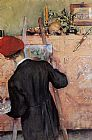 Carl Larsson The Still Life Painter painting