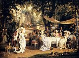 Carl Schweninger The Garden Party painting