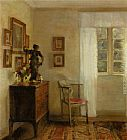 Carl Vilhelm Holsoe Interieur Med Chatol painting