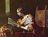 Carlo Dolci St Catherine Reading a Book painting